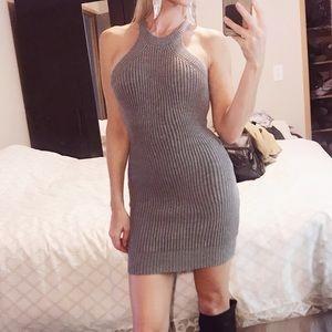 Sleeveless Bodycon Sweater Dress